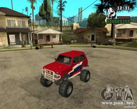 VAZ-21213 4x4 Monster para GTA San Andreas vista posterior izquierda