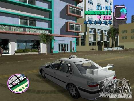Peugeot 406 Taxi para GTA Vice City left