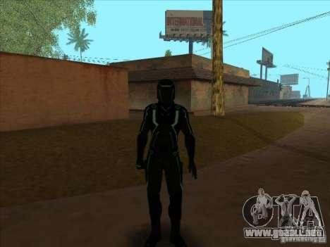 Un personaje del juego Tron: Evolution para GTA San Andreas sucesivamente de pantalla