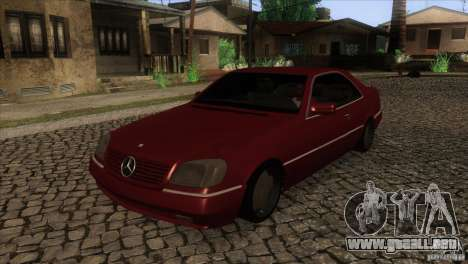 Mercedes Benz 600 Sec para visión interna GTA San Andreas
