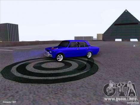 ВАЗ 2107 Drift para GTA San Andreas vista posterior izquierda