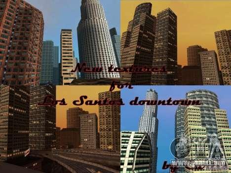 Nueva textura de rascacielos Downtown para GTA San Andreas quinta pantalla