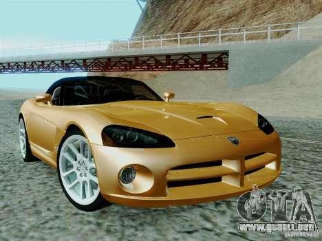 Dodge Viper SRT-10 Roadster para GTA San Andreas vista hacia atrás