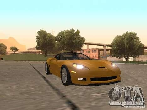 Chevrolet Corvette Z06 para GTA San Andreas left