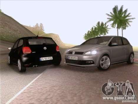 Volkswagen Polo GTI 2011 para vista lateral GTA San Andreas