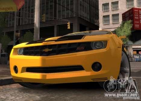 Chevrolet Camaro concept 2007 para GTA 4 visión correcta
