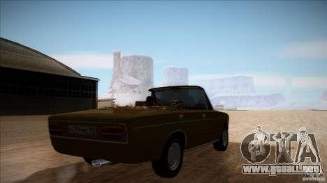 VAZ 2103 Convertible para visión interna GTA San Andreas