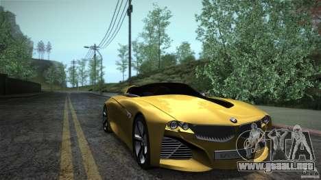 BMW Vision Connected Drive Concept para GTA San Andreas vista hacia atrás