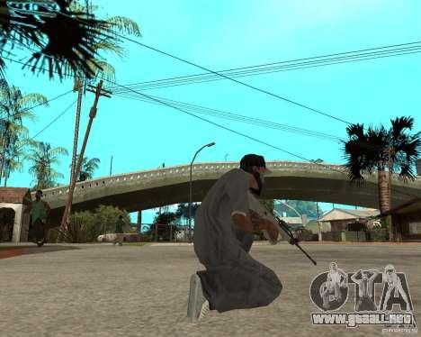 AUG HBAR con un ojo para GTA San Andreas tercera pantalla
