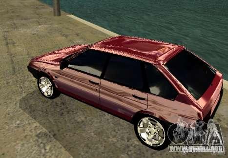 Vaz 2109 cromo para la visión correcta GTA San Andreas
