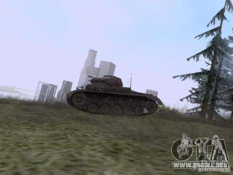 PzKpfw II Ausf.A para GTA San Andreas left