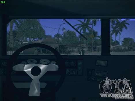 Hummer H1 1986 Police para visión interna GTA San Andreas