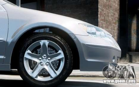 Acura RL 2006 para GTA 4 vista hacia atrás