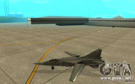 MiG-23 a los Flogger para GTA San Andreas vista posterior izquierda