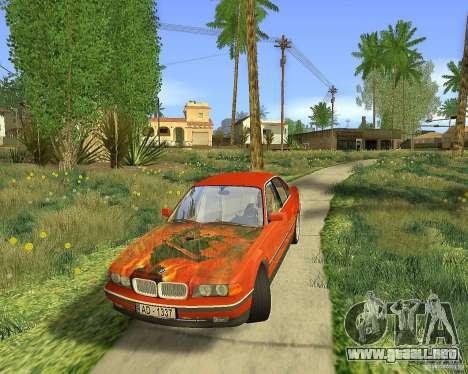 BMW 730i E38 1996 para vista lateral GTA San Andreas