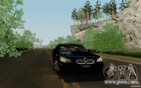BMW M5 2009 para visión interna GTA San Andreas