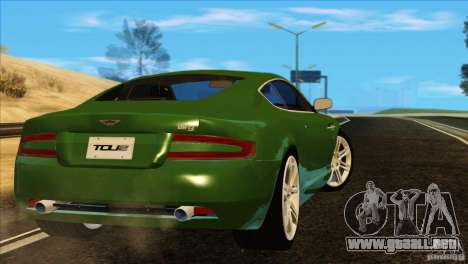 Aston Martin DB9 para vista inferior GTA San Andreas