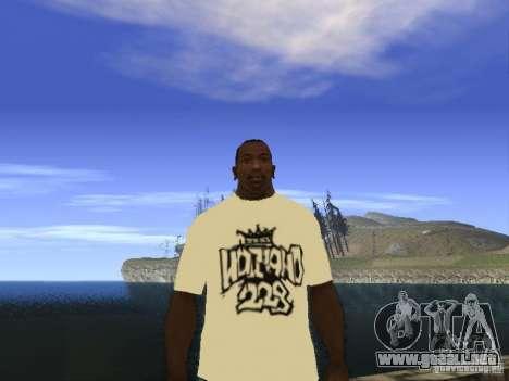 Camiseta NoGGano228 y AK 47 para GTA San Andreas