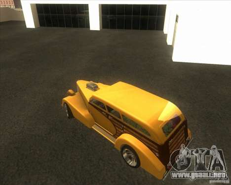 Custom Woody Hot Rod para vista lateral GTA San Andreas