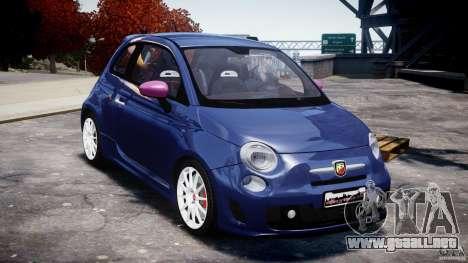 Fiat 500 Abarth SS para GTA 4 vista hacia atrás