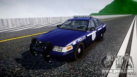 Ford Crown Victoria Homeland Security [ELS] para GTA 4