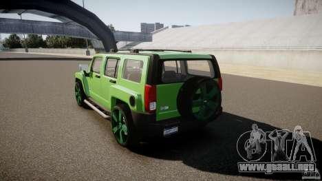 Hummer H3 para GTA 4 Vista posterior izquierda