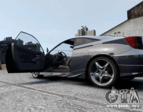 Toyota Celica para GTA 4 Vista posterior izquierda
