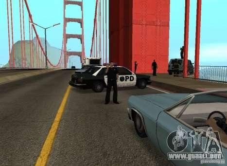 Un terrorista suicida en el puente para GTA San Andreas quinta pantalla