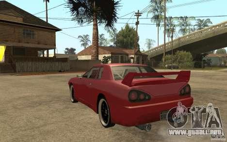 Drift Elegy para GTA San Andreas vista posterior izquierda