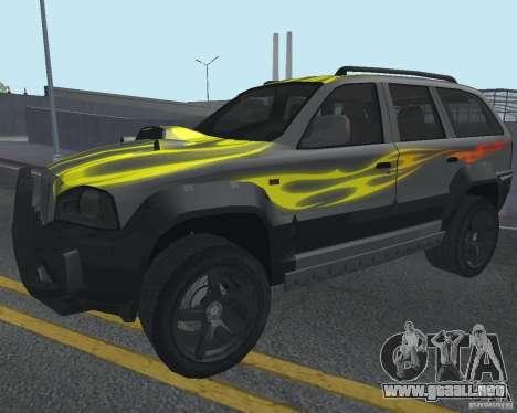 SUV de NFS para visión interna GTA San Andreas