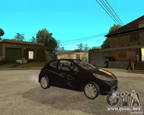 PEUGEOT 207 Griffe LANCARSPORT para la visión correcta GTA San Andreas