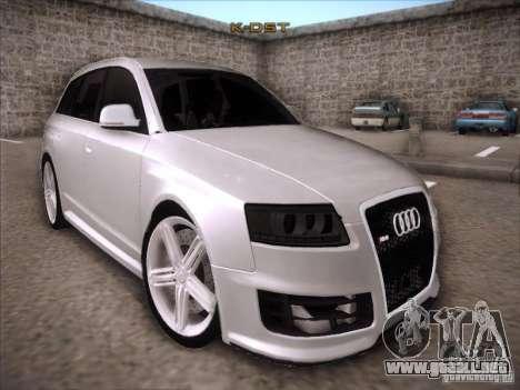 Audi RS6 Avant para GTA San Andreas vista hacia atrás