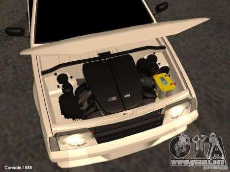 VAZ 2109 Opera Turbo para la vista superior GTA San Andreas