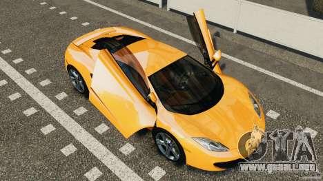 McLaren MP4-12C v1.0 [EPM] para GTA 4 vista hacia atrás