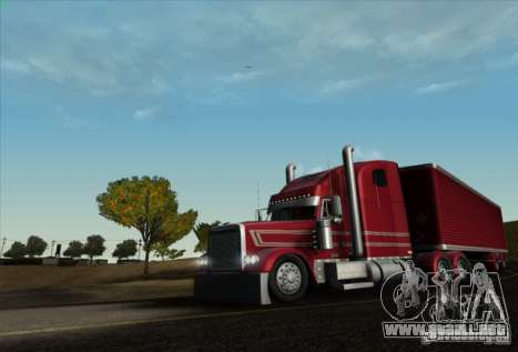 Remolque para Freightliner Classic XL Custom para GTA San Andreas vista posterior izquierda