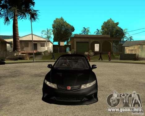 2009 Honda Civic Type R Mugen Tuning para GTA San Andreas vista hacia atrás