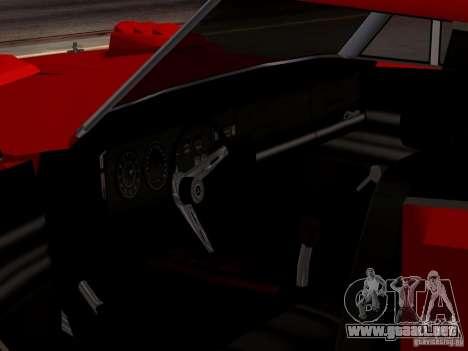 Dodge Charger Daytona 440 para GTA San Andreas vista hacia atrás