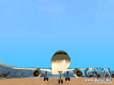 Airbus A320 Air France para GTA San Andreas vista hacia atrás