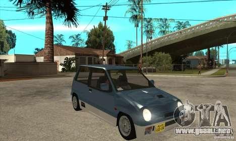 Suzuki Alto Works para GTA San Andreas vista hacia atrás