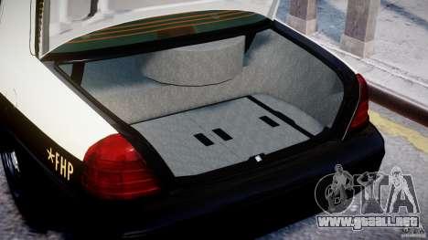 Ford Crown Victoria Fl Highway Patrol Units ELS para GTA 4 vista interior