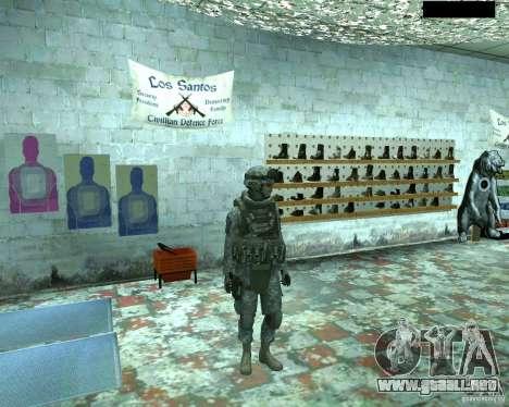 Soldado de infantería piel CoD MW 2 para GTA San Andreas segunda pantalla