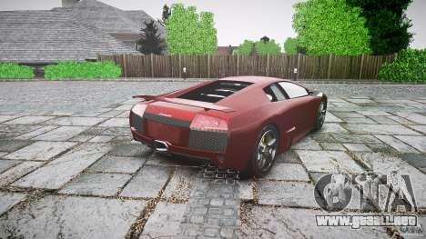 Lamborghini Murcielago v1.0b para GTA 4 Vista posterior izquierda
