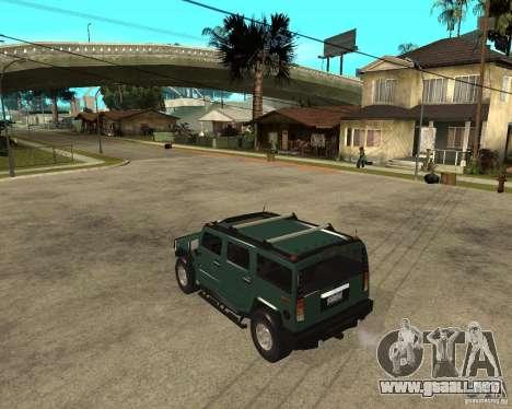AMG H2 HUMMER SUV para GTA San Andreas left