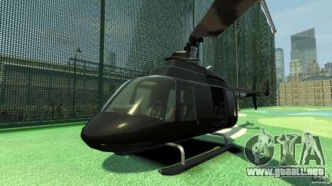 Black U.S. ARMY Helicopter v0.2 para GTA 4 left