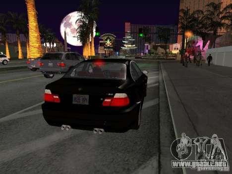 BMW M3 GT-R Stock para la visión correcta GTA San Andreas