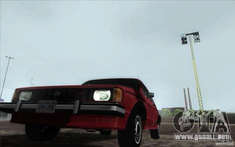 Volkswagen Rabbit 1986 para la visión correcta GTA San Andreas