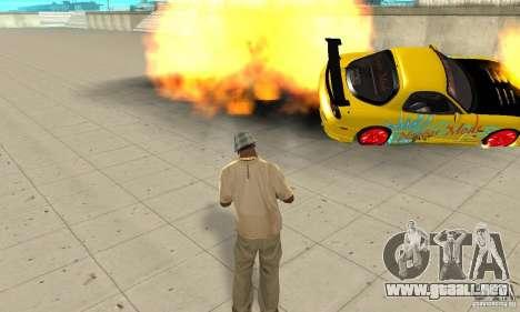 Capacidad sobrenatural de CJ-me para GTA San Andreas sucesivamente de pantalla