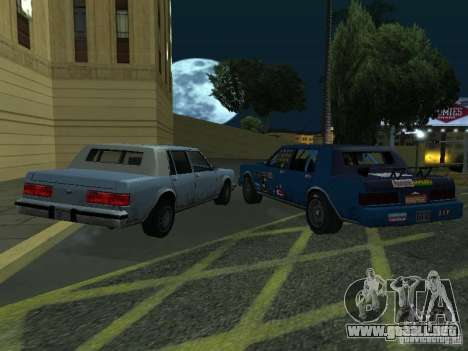 GreenWood Racer para GTA San Andreas vista posterior izquierda