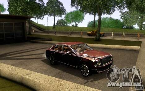 Bentley Mulsanne 2010 v1.0 para visión interna GTA San Andreas