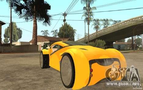 Lexus Concept 2045 para GTA San Andreas vista posterior izquierda